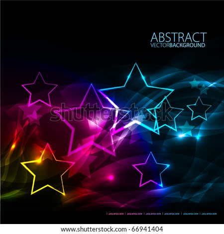 Abstract background with stars - stock vector