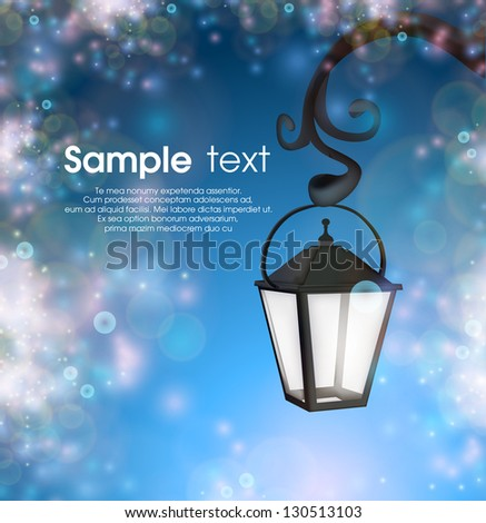 Abstract background with street lantern eps10