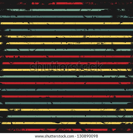 Abstract background with stripes and grunge texture, vector illustration - stock vector