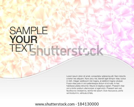 Abstract background with text  - stock vector