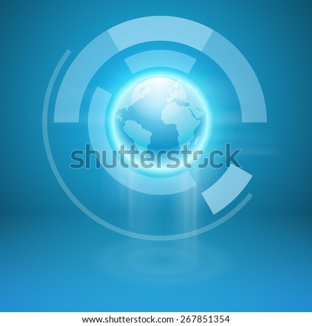 Abstract background with the globe. EPS10 vector. - stock vector