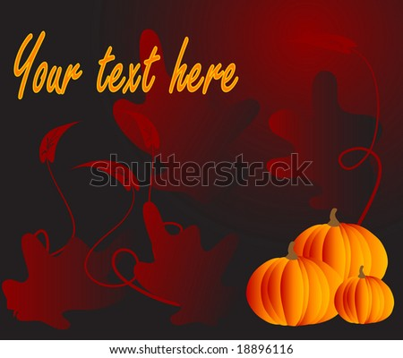 Abstract background with three pumpkins