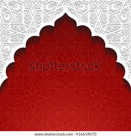 Abstract background with traditional ornament. Vector illustration. - stock vector