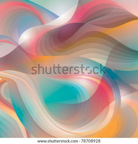 Abstract background with transforming shining forms. Vector illustration. - stock vector