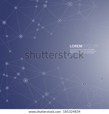 Abstract  Background with transparent Mesh and glowing lines, circles and shapes. Techno design. vector - stock vector