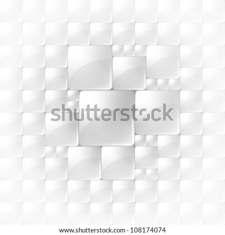 Abstract background with transparent squares. Eps 10. - stock vector