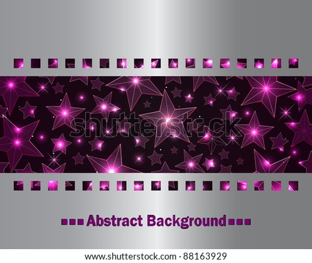 Abstract background with transparent stars. eps10. vector.