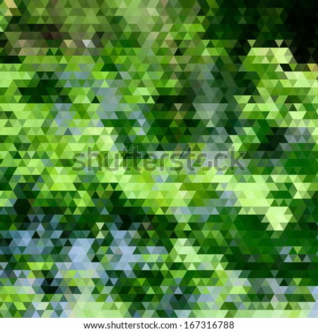 Abstract background with triangle pattern, looks like stylized summer maple tree - stock vector