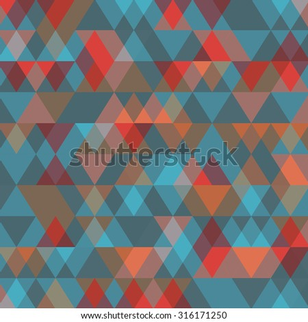 Abstract  background with triangles. Vector illustration.