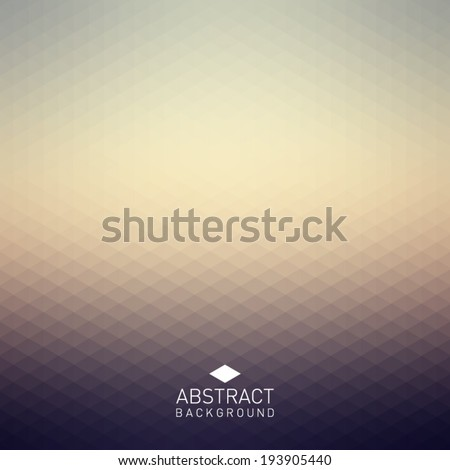 Abstract background with triangular, polygonal pattern design, hipster style. Clean and modern - stock vector