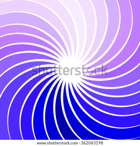abstract background with twisted rays - stock vector