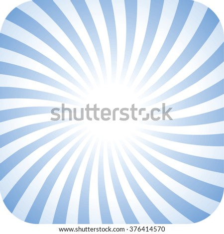 abstract background with twisted rays and rounded corners - stock vector