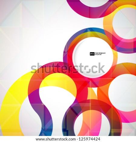 Abstract background with vector design elements. - stock vector