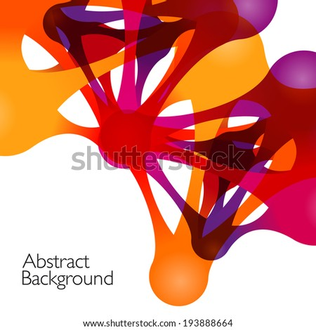 Abstract background with vector design elements. Metaball - stock vector