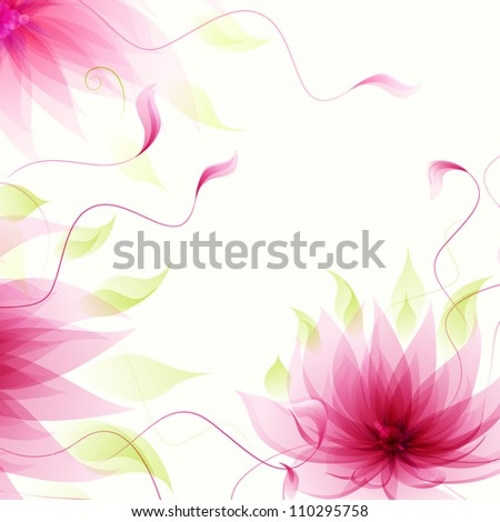 Abstract background with vector pink lotus flower - stock vector