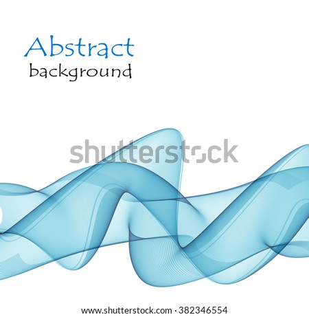 Abstract background  with vector wave blue