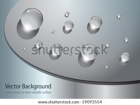 abstract background with water drops, vector. - stock vector