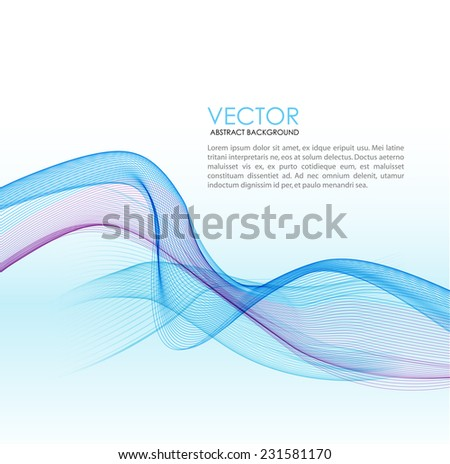 Abstract background with wave line - stock vector