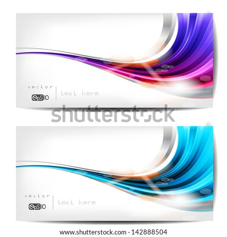 abstract background with waves and lines - stock vector