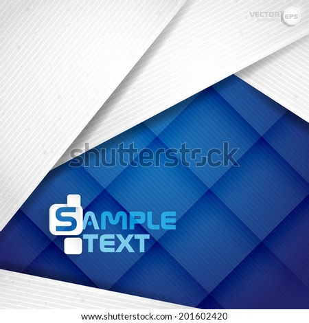 Abstract Background With White Paper Layers. Vector Illustration. Eps 10. - stock vector