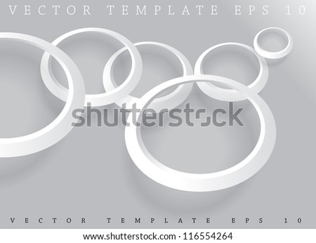 abstract background with white rings - stock vector