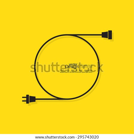 Stock Vector Abstract Background With Wire Plug And Socket Concept Connection Connection Disconnection on Spark Plug Wire Cross Section