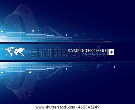 Abstract background world map arrows stock vector 460543249 abstract background with world map and arrows gumiabroncs Gallery
