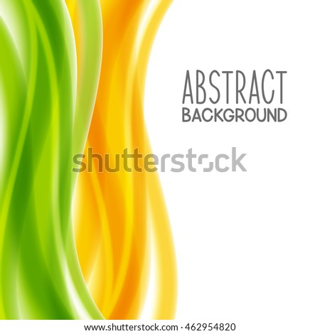 Abstract background with yellow and green elements