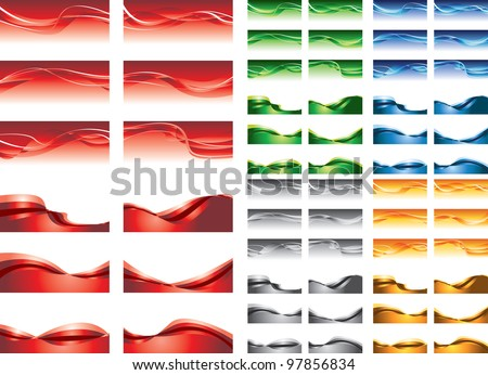 abstract backgrounds, colorful vector waves - stock vector