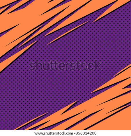 Abstract backgrounds pop art, vector illustration - stock vector