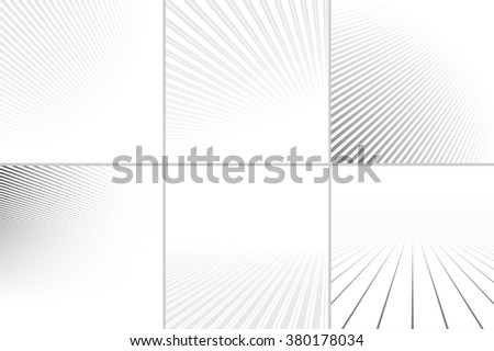 Abstract backgrounds with a perspective. Vector collection. - stock vector