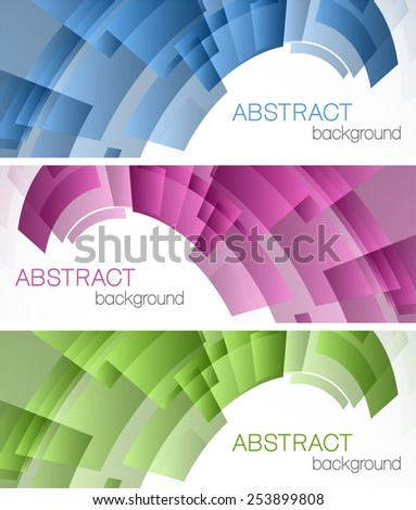 Abstract backgrounds with color rectangles - stock vector