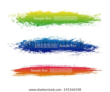 Abstract backgrounds with place for text. Vector illustration. - stock vector