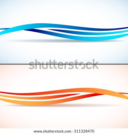 Abstract backgrounds with waves. EPS 10 vector illustration, transparency and gradients used - stock vector