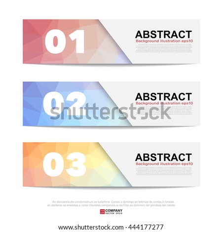 Abstract banner for business.Illustration eps10
