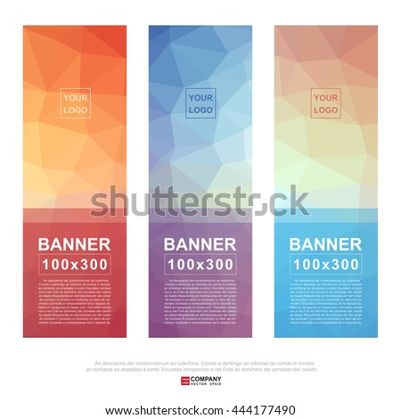 Abstract banner for business.Illustration eps10 - stock vector