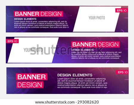 Abstract banner line design. Vector. Disco, nightclub, disco, DJ - stock vector