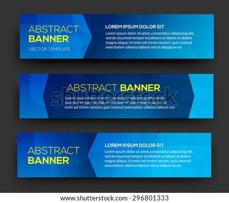 Abstract banner material design vector business stock - Text banner design ...