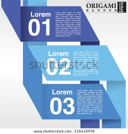 Abstract banner vector in three step.EPS10 - stock vector