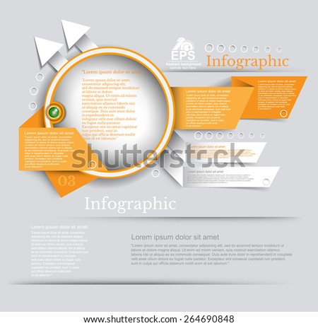 Abstract banner with circle frame arrows and paper ribbon design for your business promotional artwork - stock vector