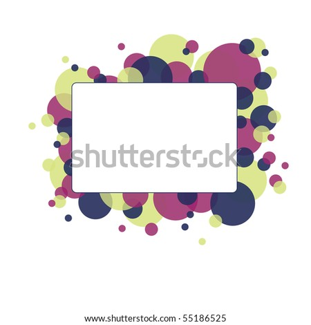 Abstract Banner with Circles. Vector Background.