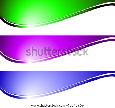 abstract banners - stock vector