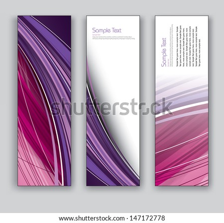 Abstract Banners. Vector Illustration. - stock vector
