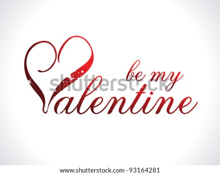 abstract be my valentine template vector illustration