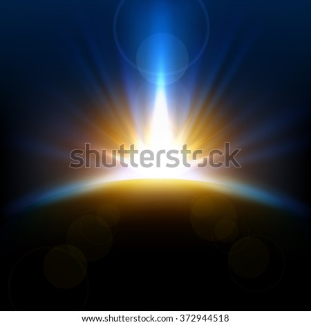 Abstract beautiful rays rising background