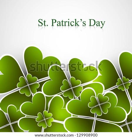 Abstract beautiful saint patricks day green colorful vector illustration - stock vector