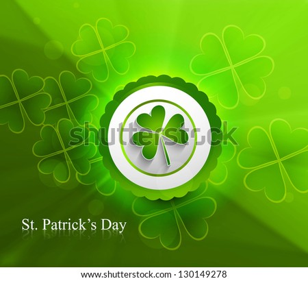 Abstract beautiful saint patricks day vector design - stock vector
