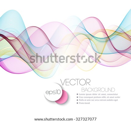 Abstract Beautiful waved lines Background.  Vector Illustration