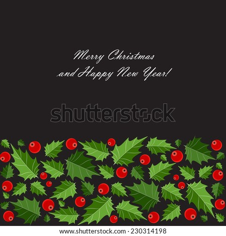 Abstract Beauty Christmas and New Year Background. Vector Illustration  - stock vector
