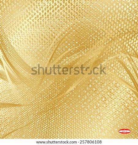abstract beige floral pattern golden texture background vector - stock vector